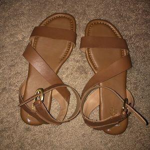 Franco Sarto Cognac colored sandals